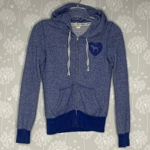 Victoria's Secret Pink Hoodie Size XSmall Blue